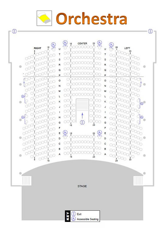 The Palladium – St. Petersburg, Florida » Hough Hall Seating Chart
